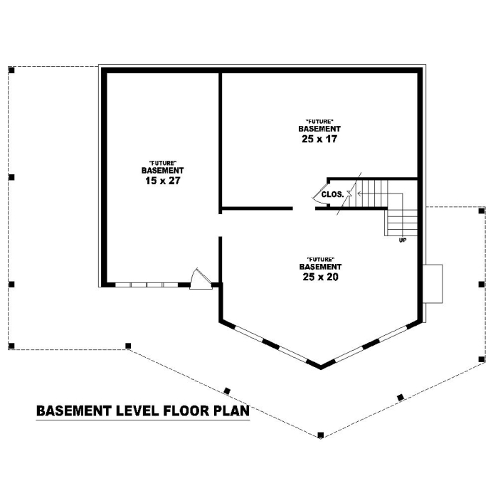Basement Level image of Featured House Plan: BHG - 1270