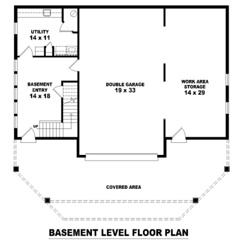 Basement Level image of Featured House Plan: BHG - 8490