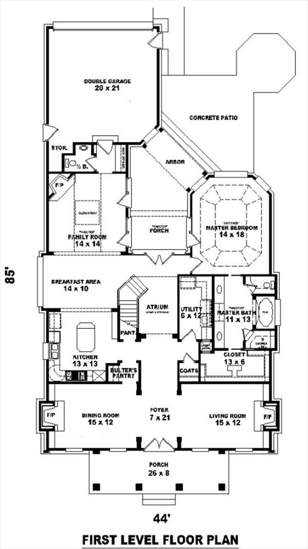 1st Level image of Featured House Plan: BHG - 8494
