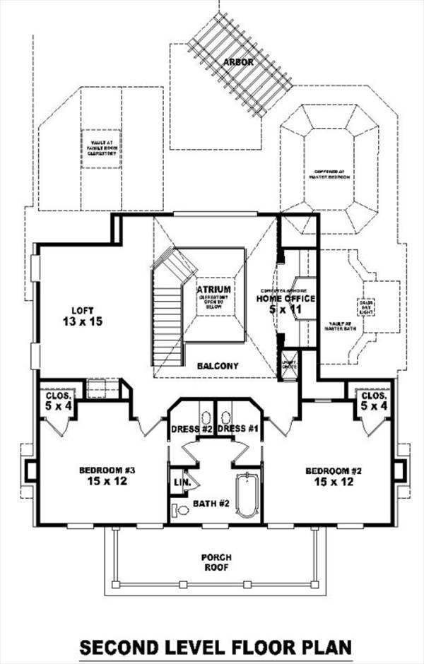 2nd Level image of Featured House Plan: BHG - 8494