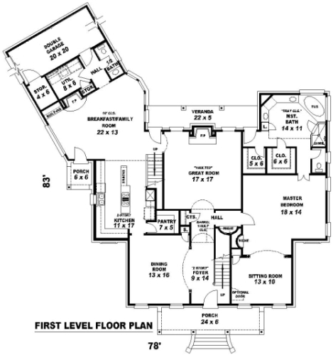 1st Level image of Featured House Plan: BHG - 8152