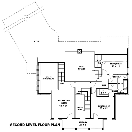 2nd Level image of Featured House Plan: BHG - 8152