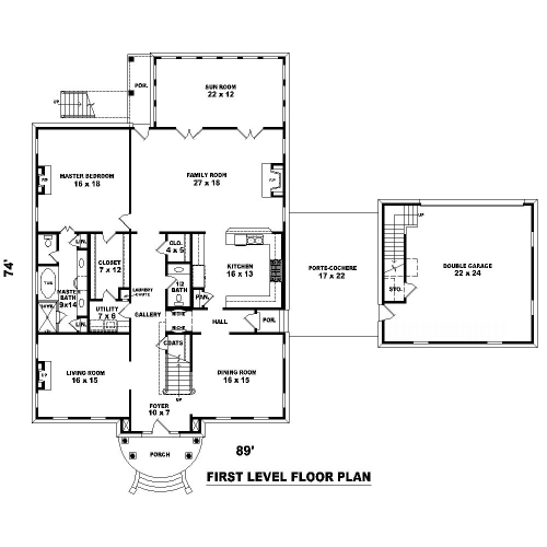 1st Level image of Featured House Plan: BHG - 8504