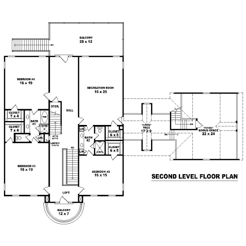2nd Level image of Featured House Plan: BHG - 8504