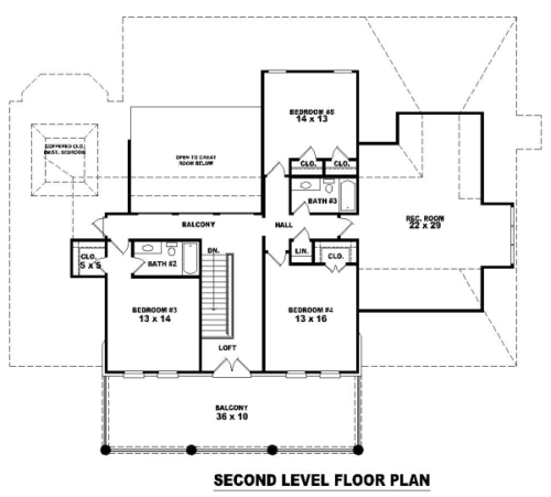 2nd Level image of Featured House Plan: BHG - 8155