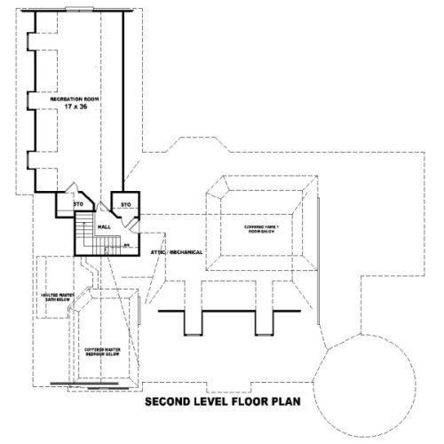 2nd Level image of Featured House Plan: BHG - 8505