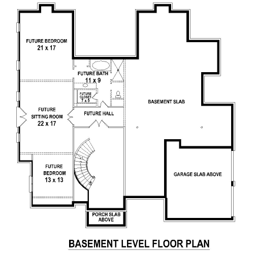 Basement Level image of Featured House Plan: BHG - 8507