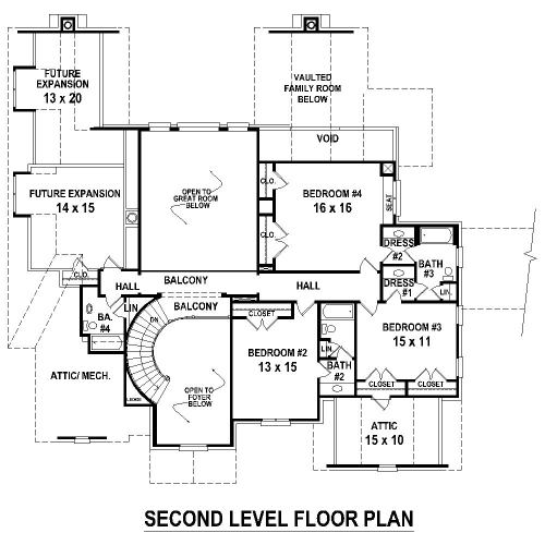 2nd Level image of Featured House Plan: BHG - 8507