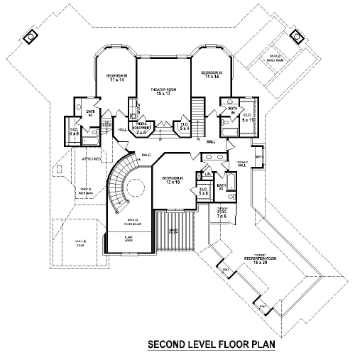 2nd Level image of Featured House Plan: BHG - 8509