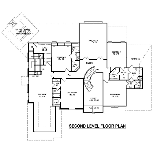 2nd Level image of Featured House Plan: BHG - 8511