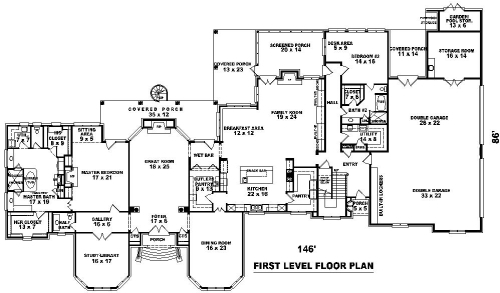1st Level image of Featured House Plan: BHG - 8513