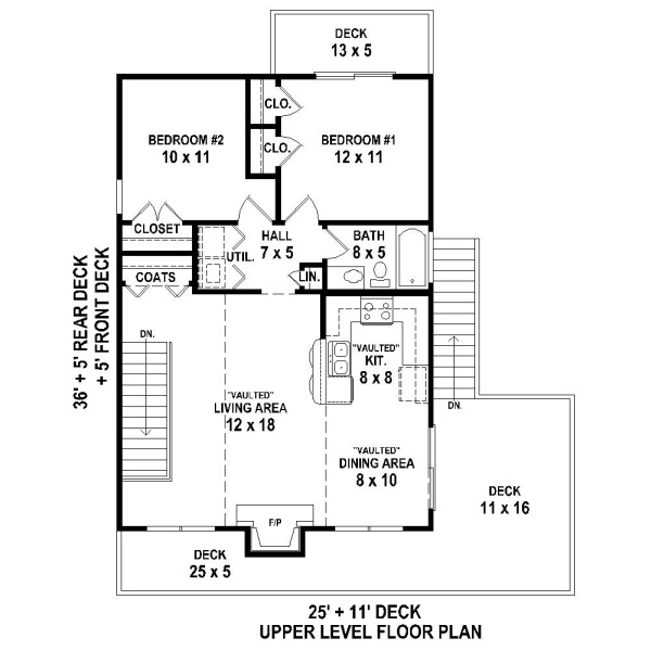 2nd Level image of Featured House Plan: BHG - 4372