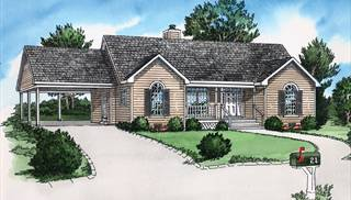 "image of Keep it Simple House Plan"" Cottage Two Bedroom House Plan"