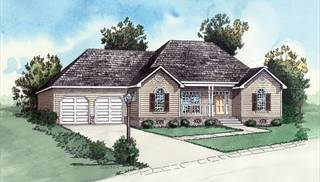 image of Affordable Country Two Bedroom House Plan