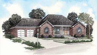 image of Economical European Ranch House Plan
