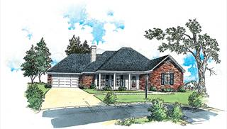 image of European Affordable Ranch House Plan
