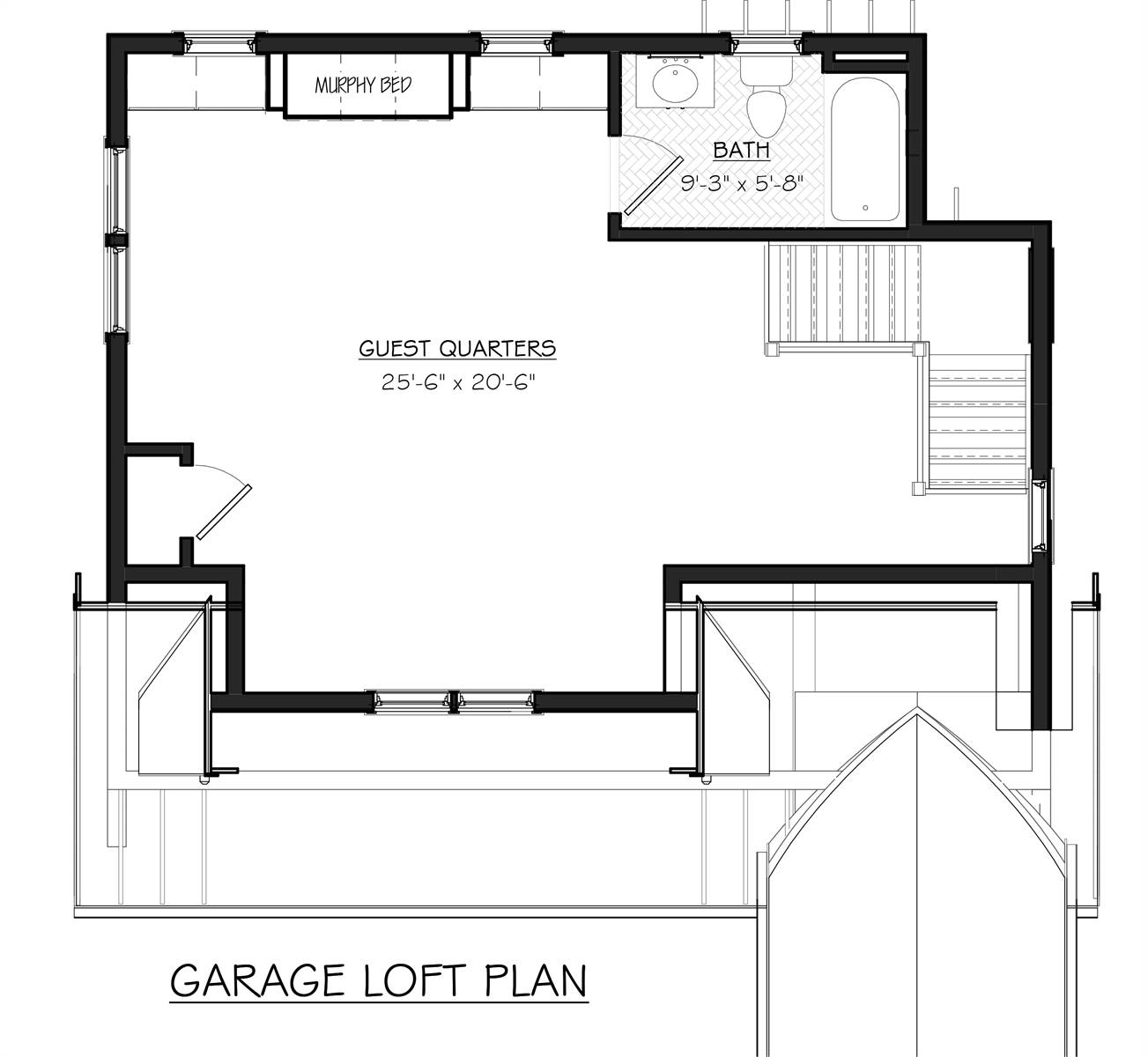 Garage Loft Floor Plan image of Featured House Plan: BHG - 7055