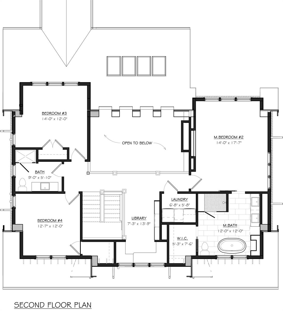 Second Floor Plan image of Featured House Plan: BHG - 7055
