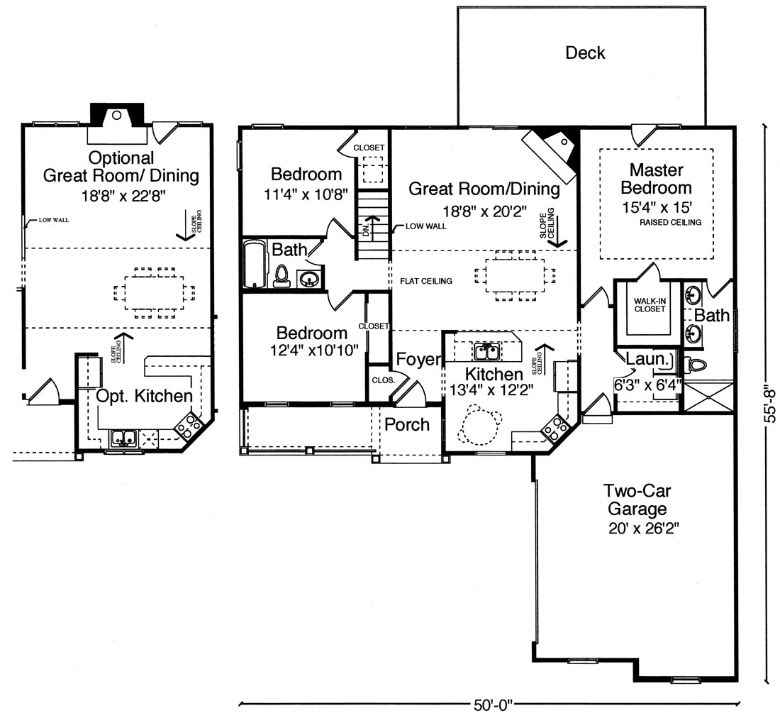 1st Floor Plan image of Featured House Plan: BHG - 9101