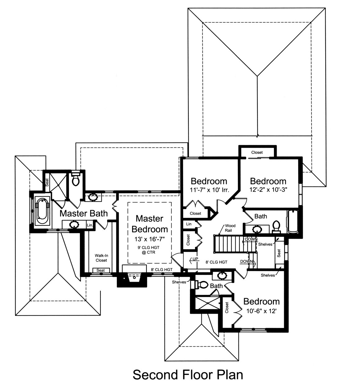 2nd Floor Plan image of Featured House Plan: BHG - 9104