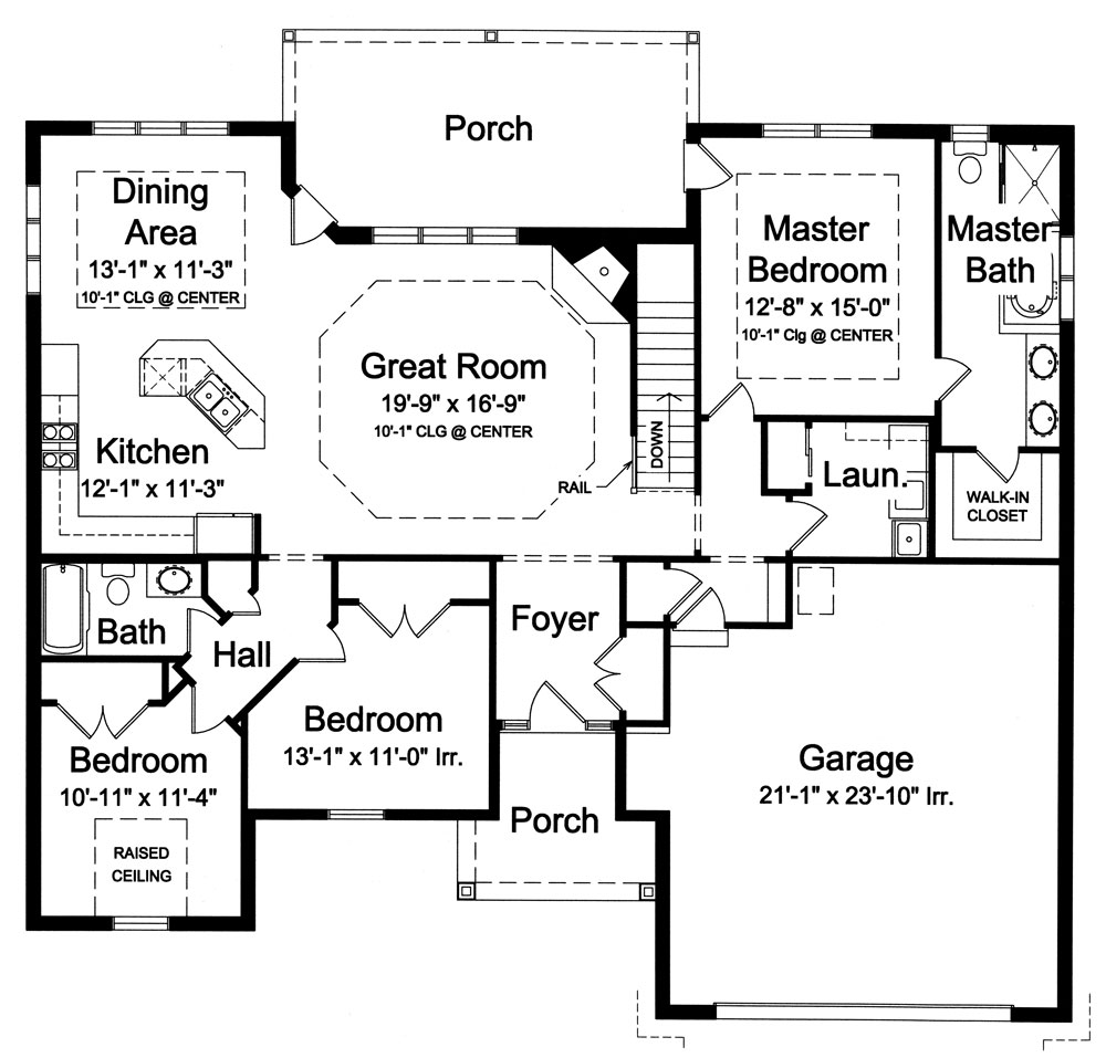 1st Floor Plan image of Featured House Plan: BHG - 9043