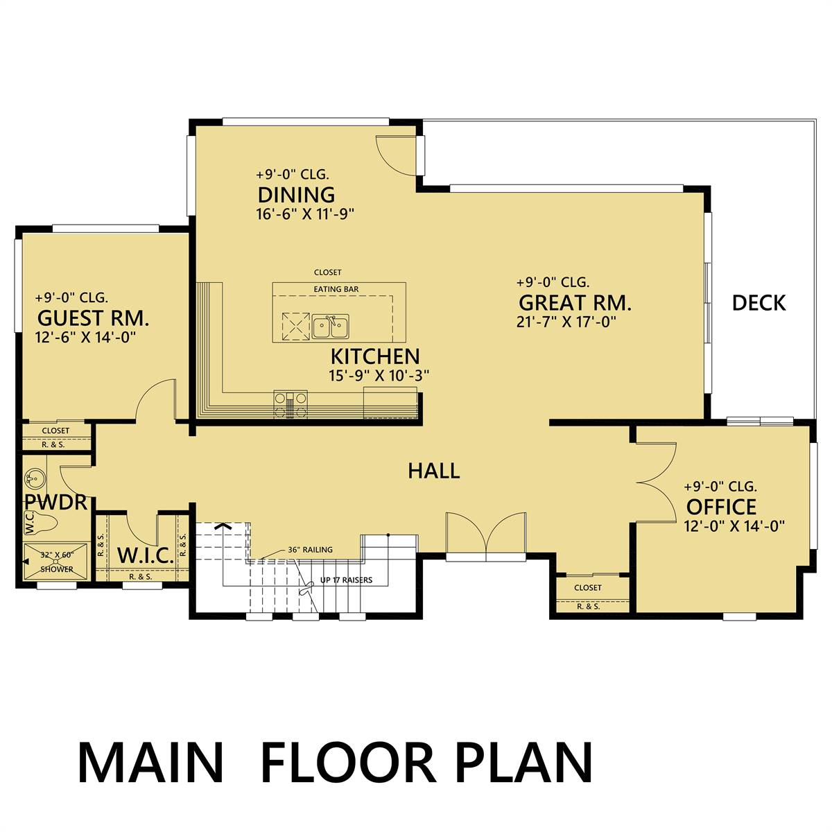 1st Floor image of Featured House Plan: BHG - 1484
