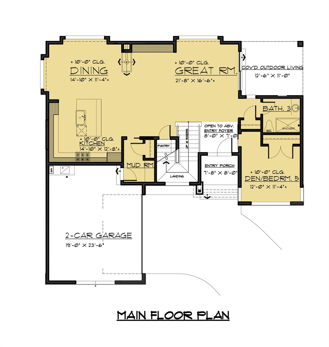 1st Floor image of Featured House Plan: BHG - 1593
