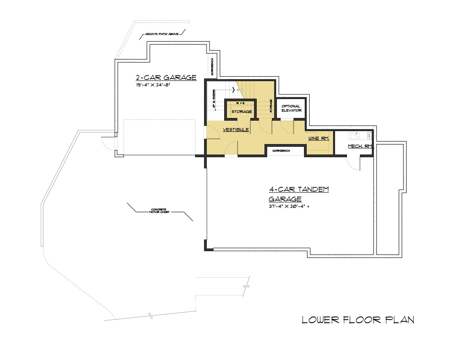 Lower Level Plan image of Featured House Plan: BHG - 4252
