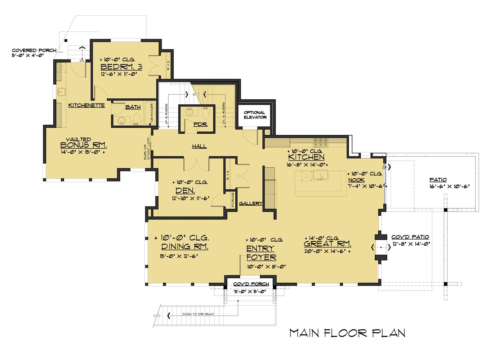 1st Floor image of Featured House Plan: BHG - 4252