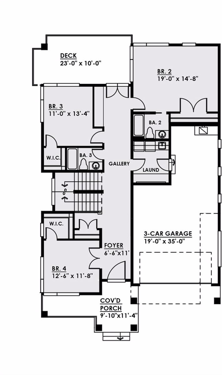 1st Floor image of Featured House Plan: BHG - 4547