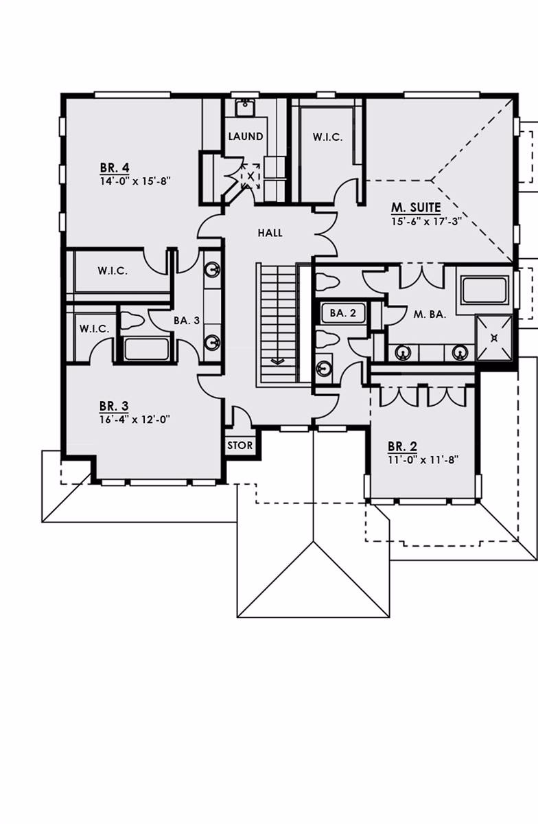 2nd Floor image of Featured House Plan: BHG - 4571