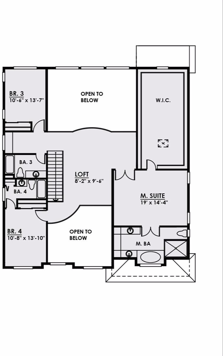 2nd Floor image of Featured House Plan: BHG - 4572