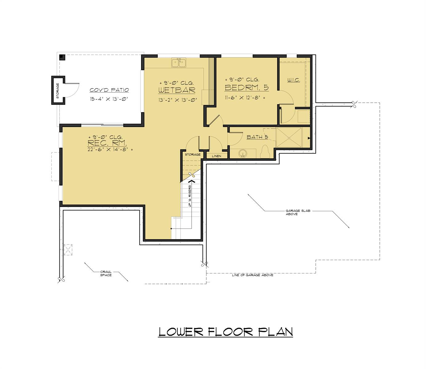 Lower Level Plan image of Featured House Plan: BHG - 6329