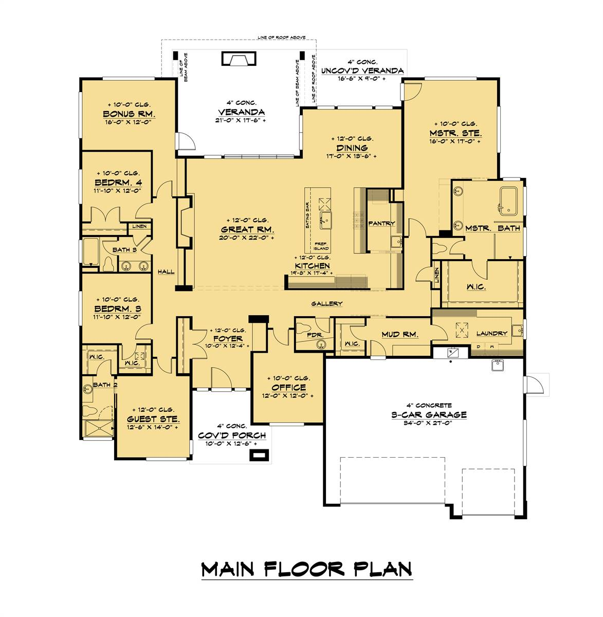 1st Floor image of Featured House Plan: BHG - 7550