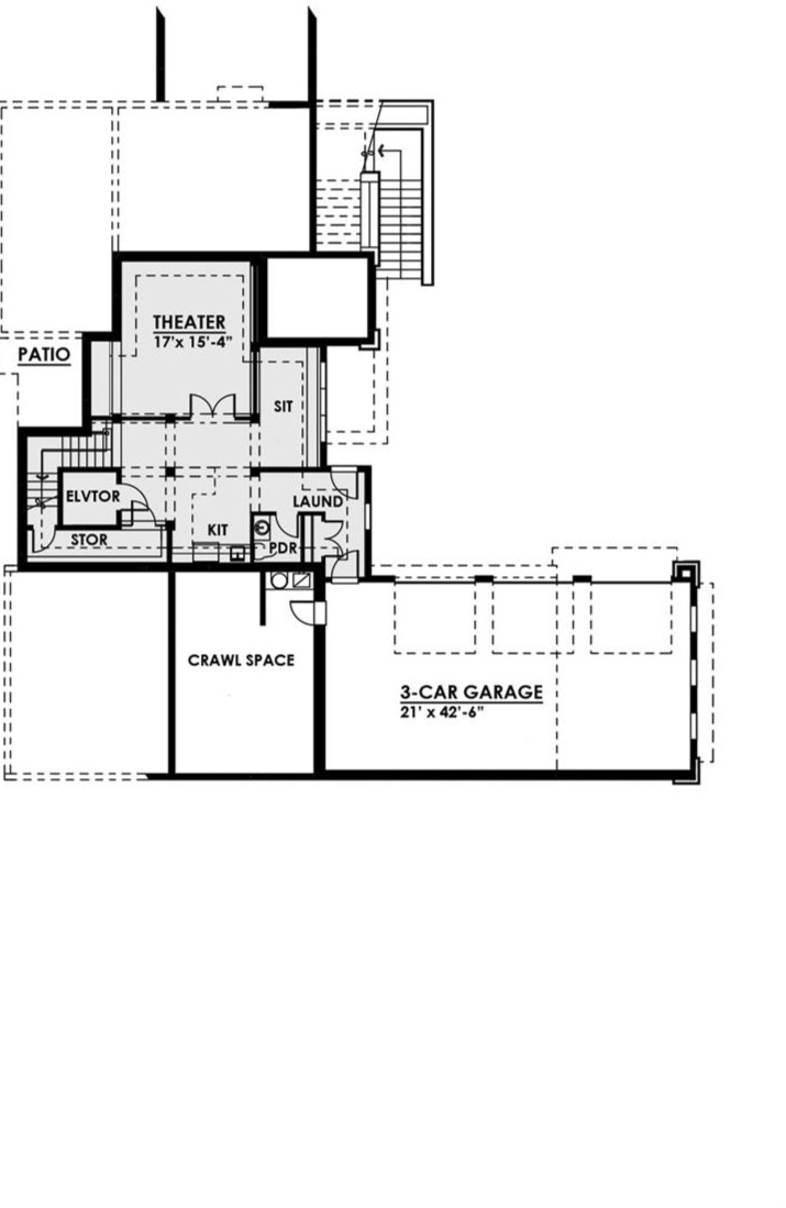 Lower Floor Plan image of Featured House Plan: BHG - 7882