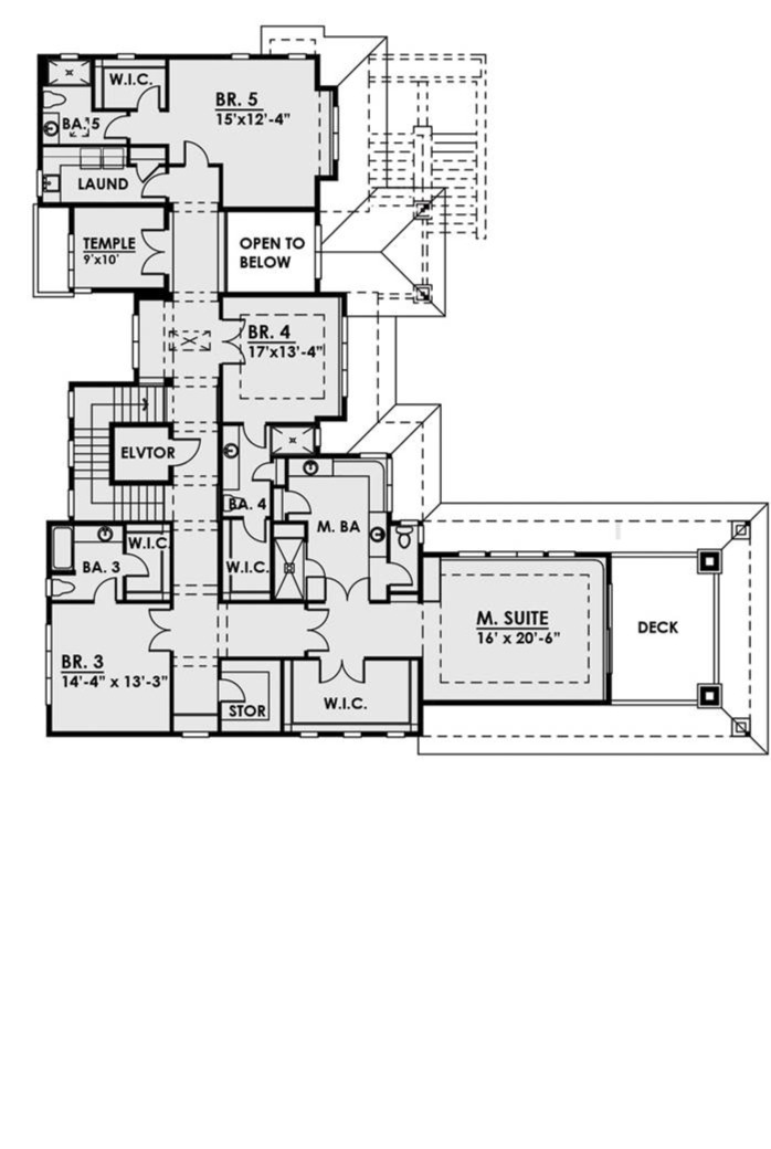2nd Floor Plan image of Featured House Plan: BHG - 7882