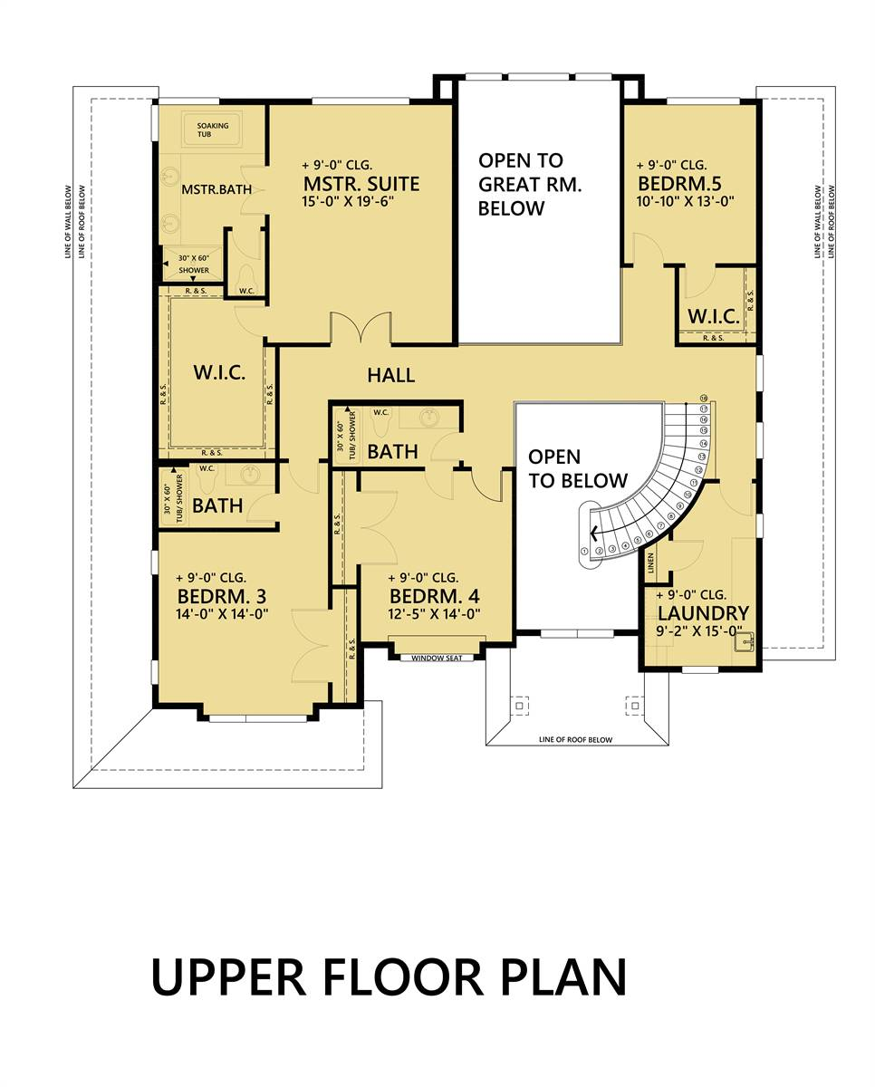 2nd Floor Plan image of Featured House Plan: BHG - 7886