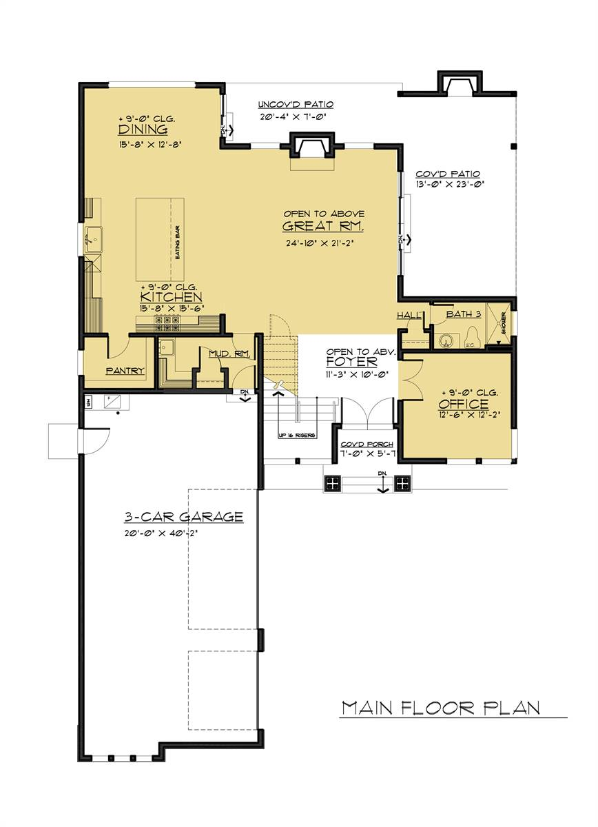 1st Floor Plan image of Featured House Plan: BHG - 7887