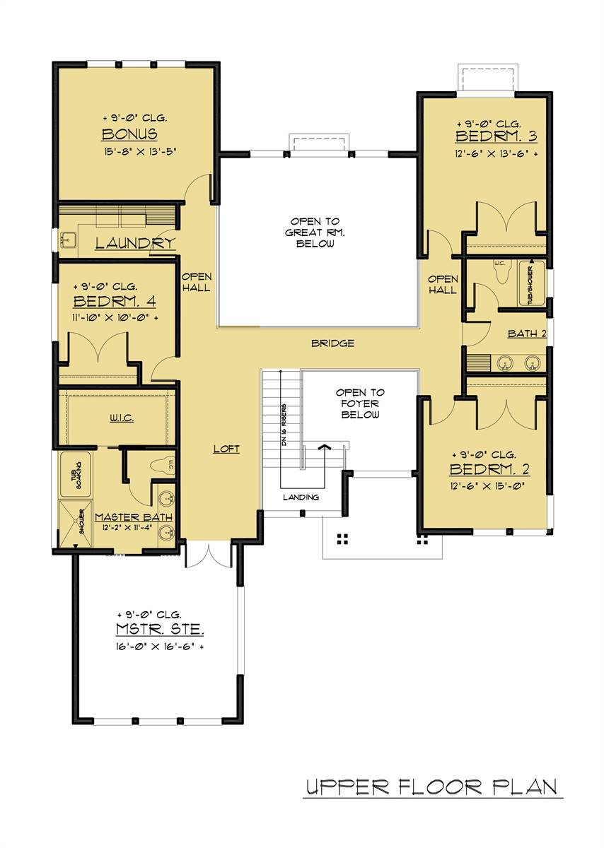 2nd Floor Plan image of Featured House Plan: BHG - 7887