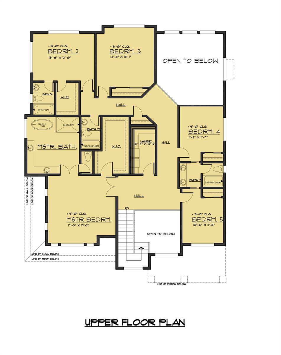 2nd Floor Plan image of Featured House Plan: BHG - 7888
