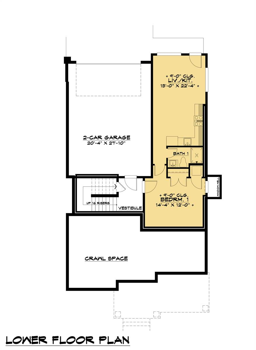 Lower Floor Plan image of Featured House Plan: BHG - 8316