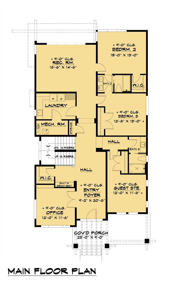 Main Floor Plan image of Featured House Plan: BHG - 8316