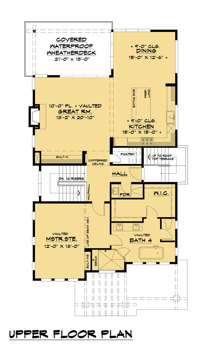 Upper Floor Plan image of Featured House Plan: BHG - 8316