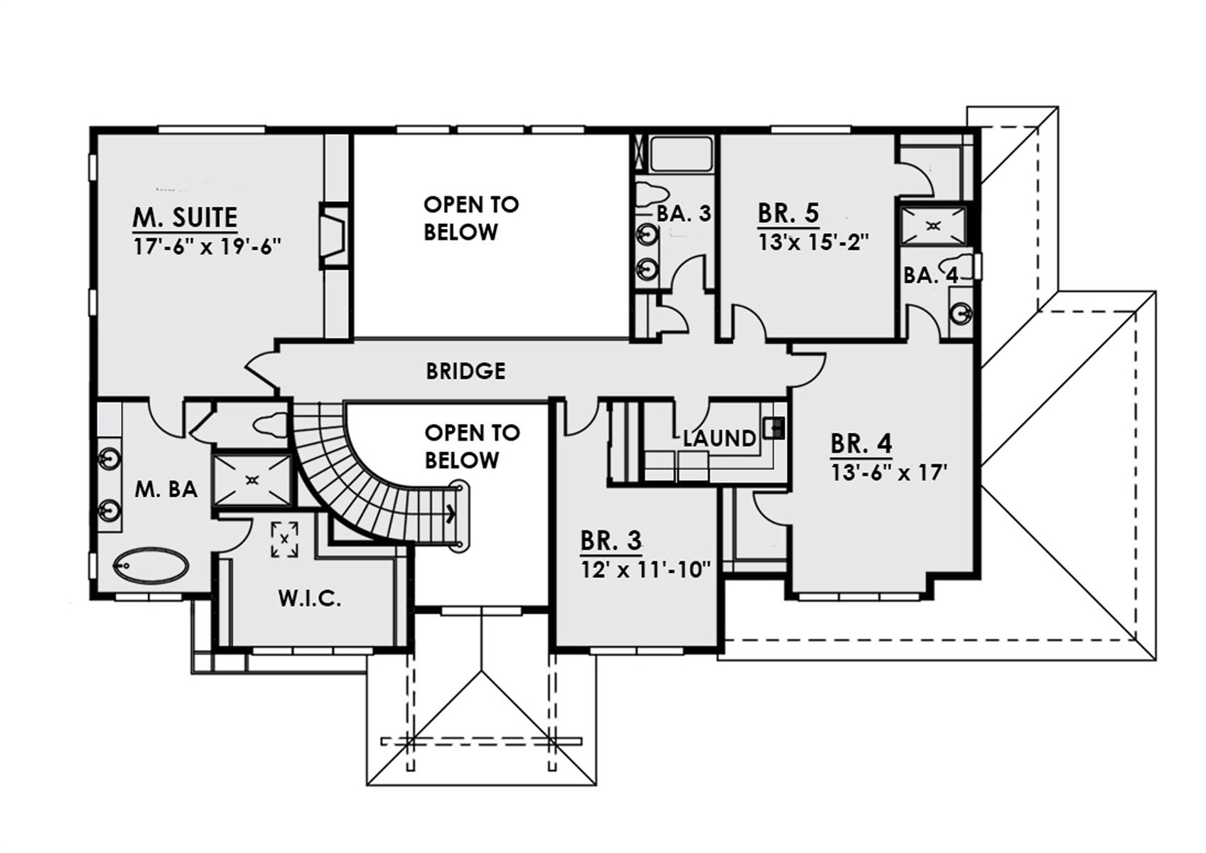 2nd Floor image of Luxury Two Story Contemporary Style House Plan 8766