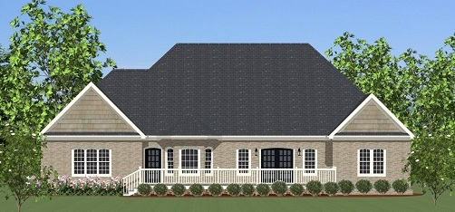 Rear Elevation image of Featured House Plan: BHG - 5496