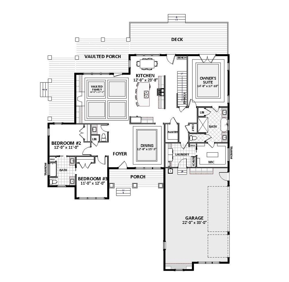 1st Floor image of Featured House Plan: BHG - 4647