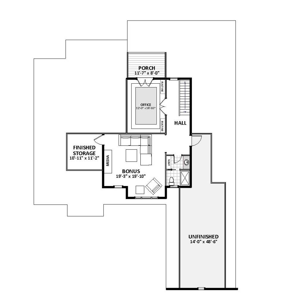 2nd Floor image of Featured House Plan: BHG - 4647