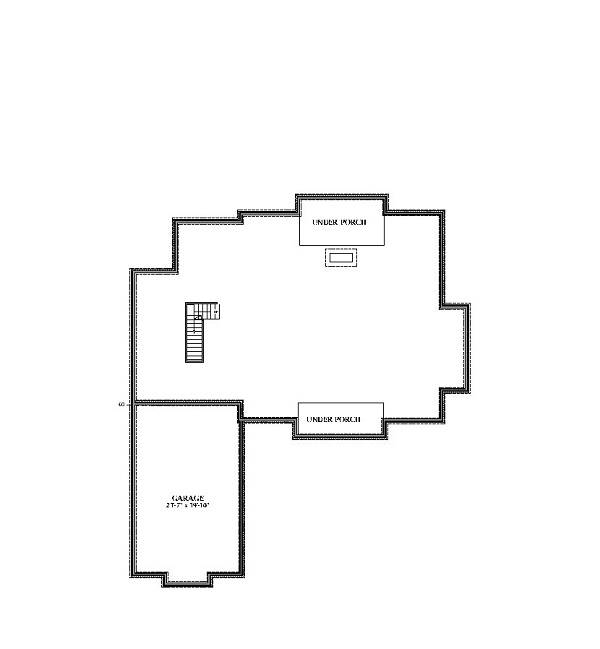 Unfinished Basement image of Featured House Plan: BHG - 6983