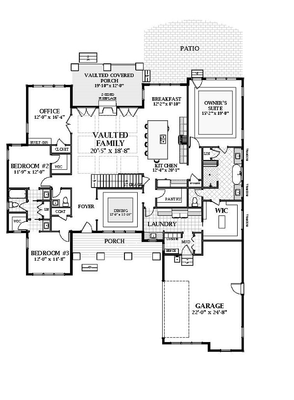 1st Floor image of Featured House Plan: BHG - 2534