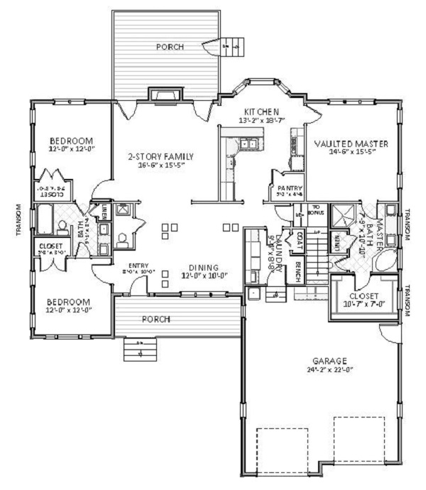 1st Floor image of Featured House Plan: BHG - 5504